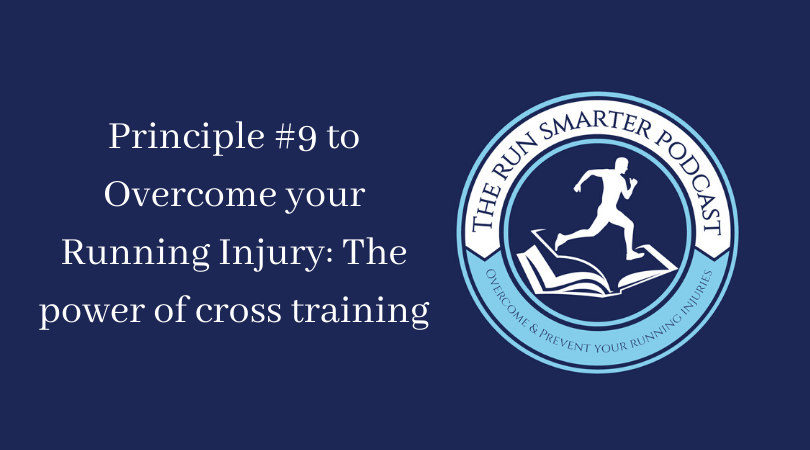 The Run smarter podcast art work and cross training title