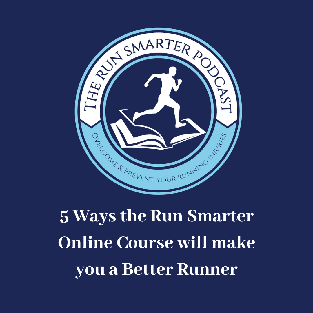 The Run Smarter podcast cover art and episode title