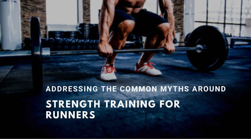 A runner strength training in the gym