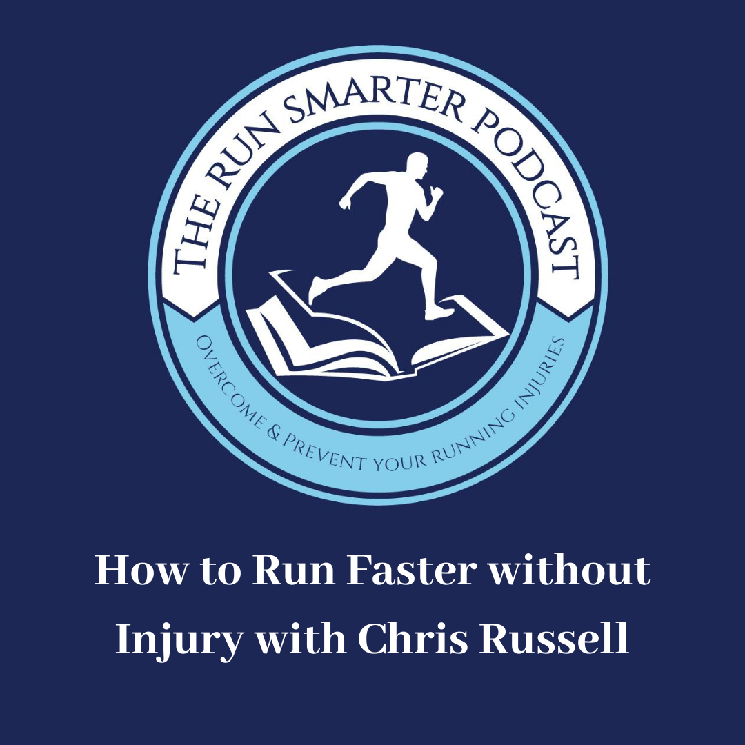 The run smarter podcast logo and episode title
