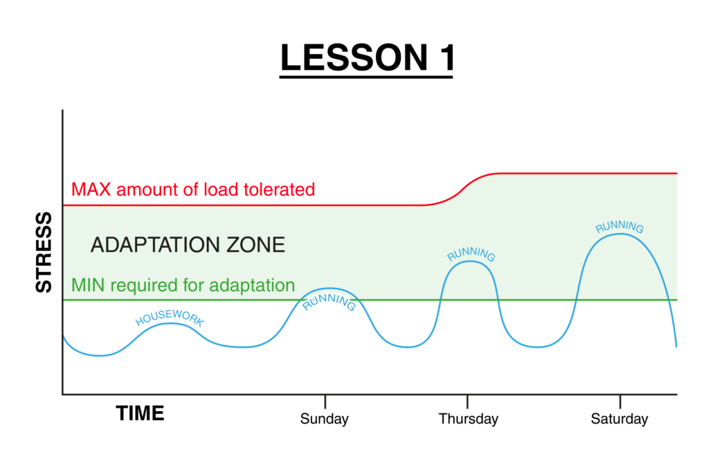 Graph explaining adaptation for a runner
