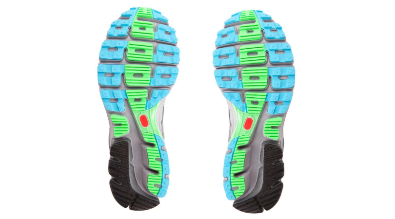 Sole of a running shoe for assessment