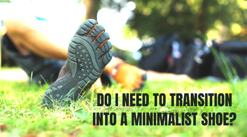Runner in minimalist shoes next to blog title
