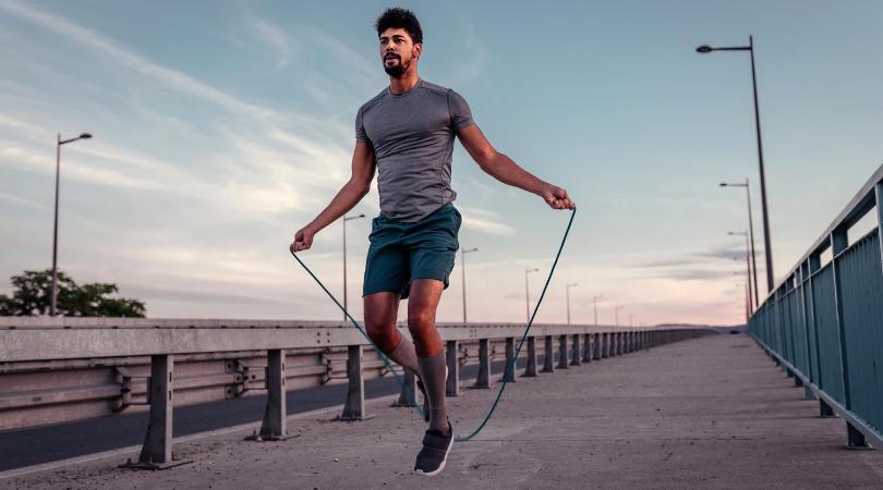 runner skipping