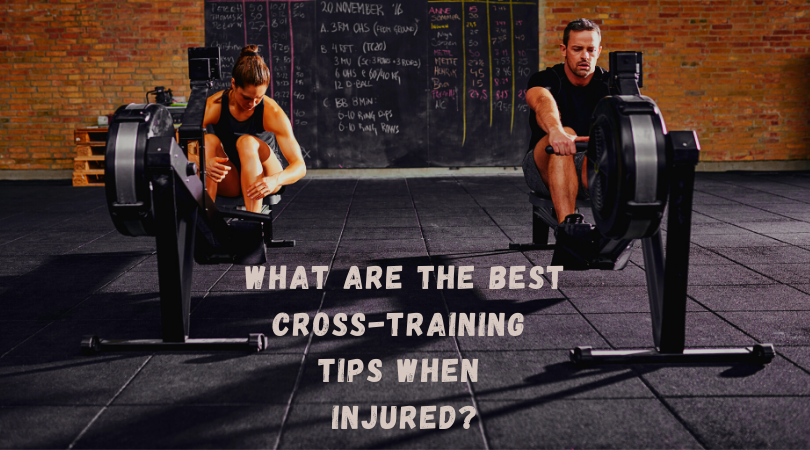two runners training on the rowing machine