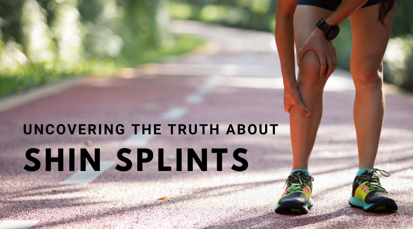 Runner with shin splints next to blog title